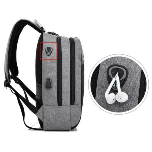 "Men Women Backpack 15"" Laptop Lock Anti-theft"