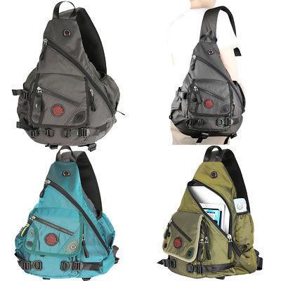men women large laptop sling bag backpack