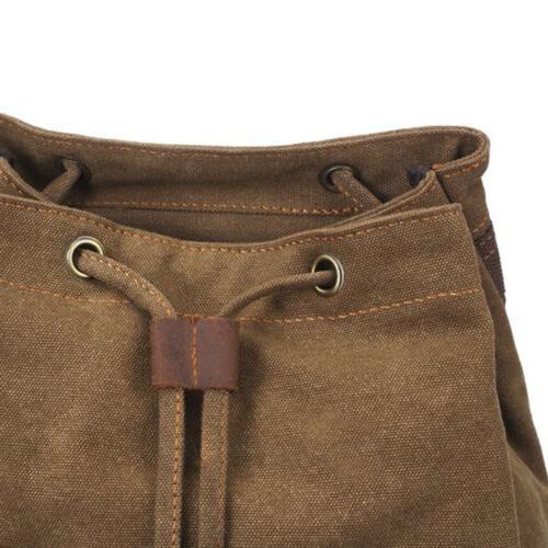 "Military Rucksack Retro Canvas Bag Bag 14"" Laptop Backpack"