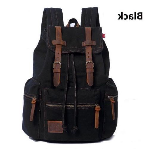 Men Canvas Travel Sport Bag Rucksack School Bookbag