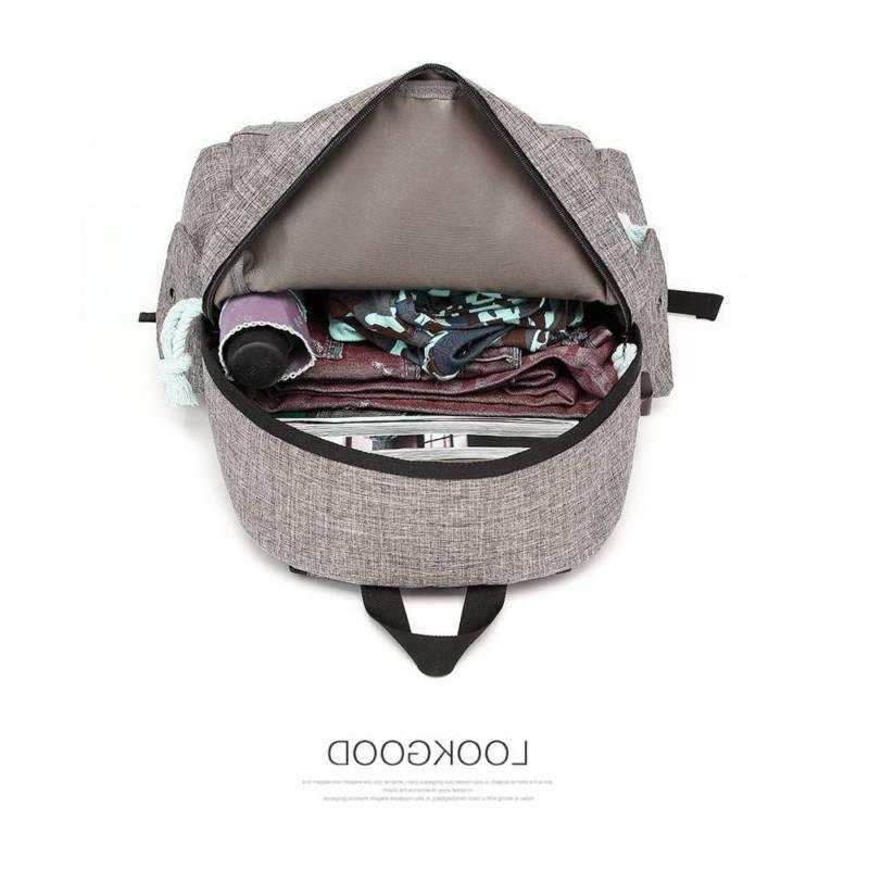 Men Women Shoulder Rucksack Backpack Laptop College USB Bag