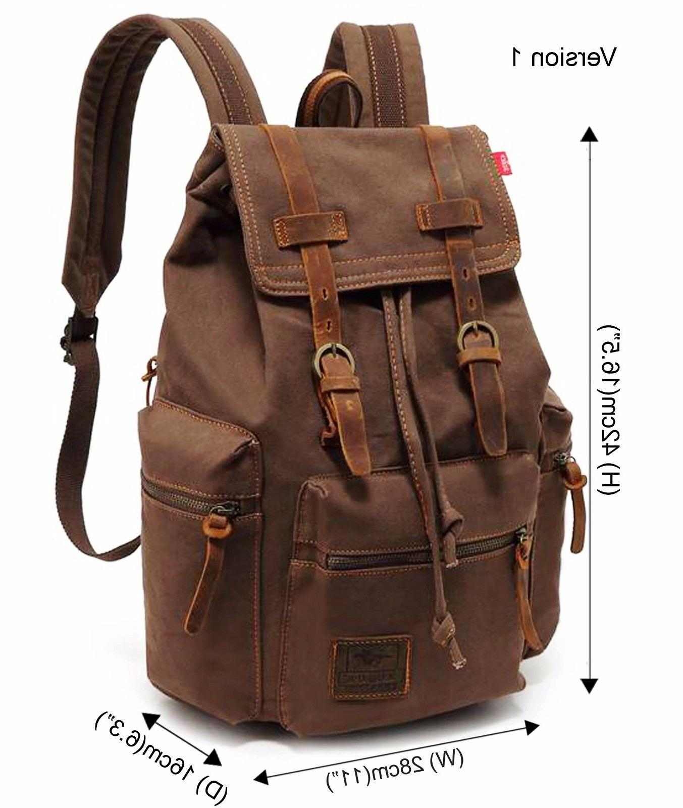 Men Travel Backpack Rucksack Hiking School