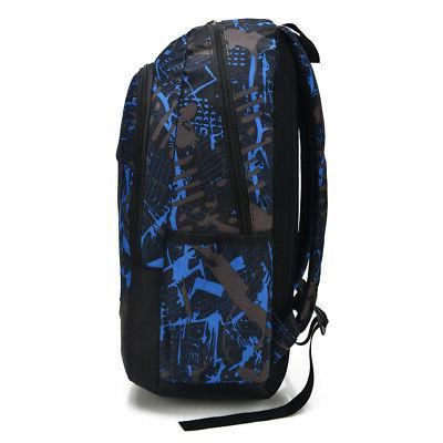 Men Women USB Backpack Travel Shoulder School Book