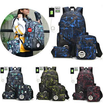 Men Backpack Travel Shoulder School Book Rucksack
