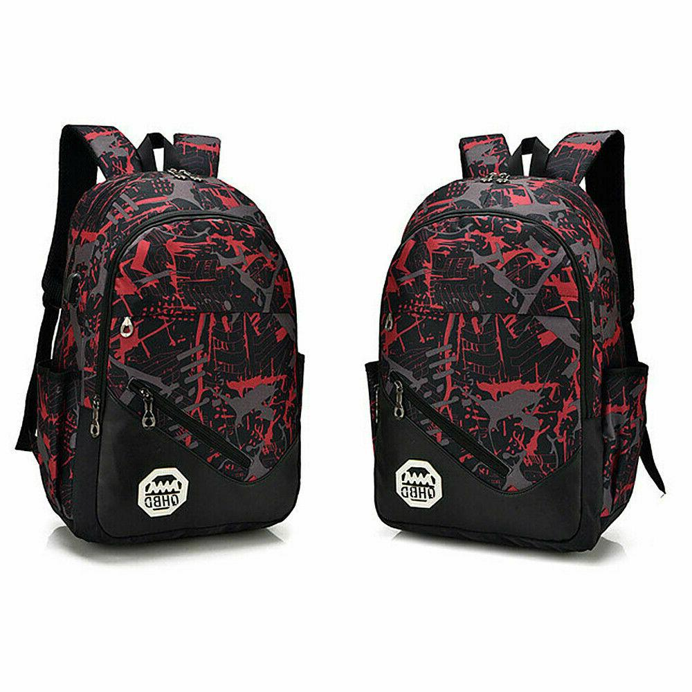 Men Women USB Backpack Laptop School