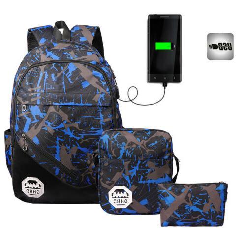 Men Women Port Backpack Laptop Travel Shoulder School Book Rucksack