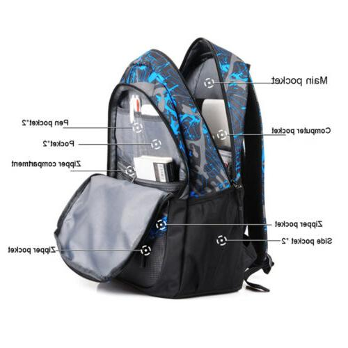 Men Backpack Laptop School Bag Rucksack
