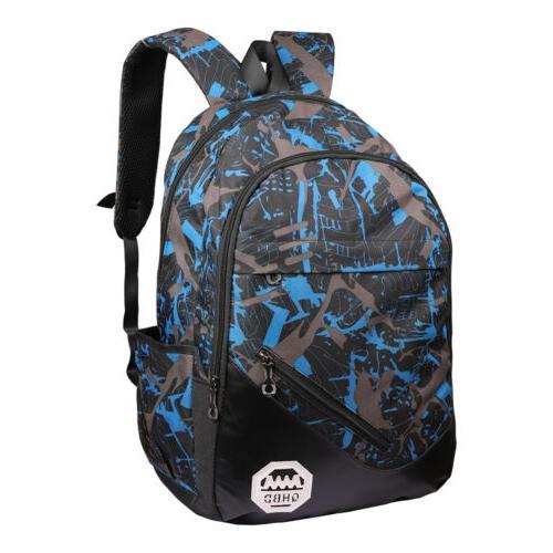 Men USB Backpack Laptop School Book Bag
