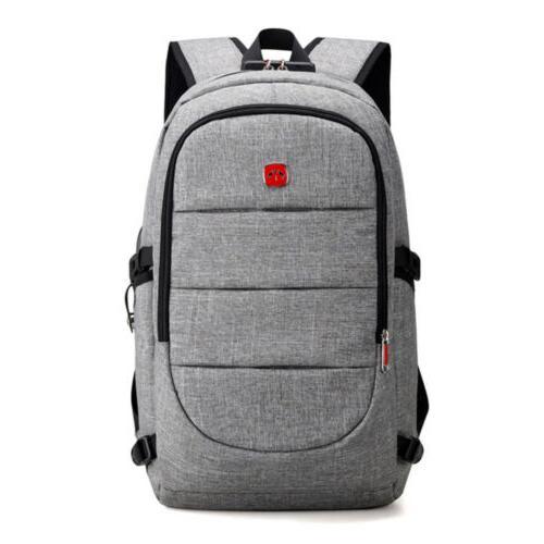 Mens Anti-Theft Shoulder Bag Charging Laptop