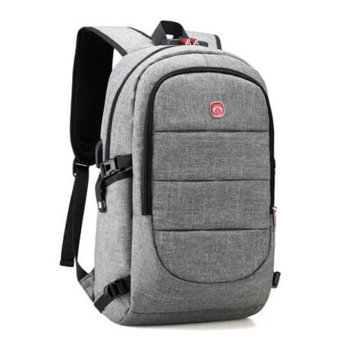 Mens Bag USB Laptop Backpack