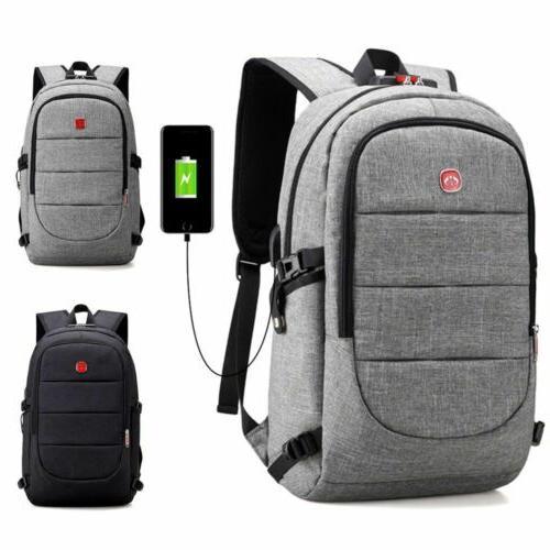mens anti theft shoulder school bag usb