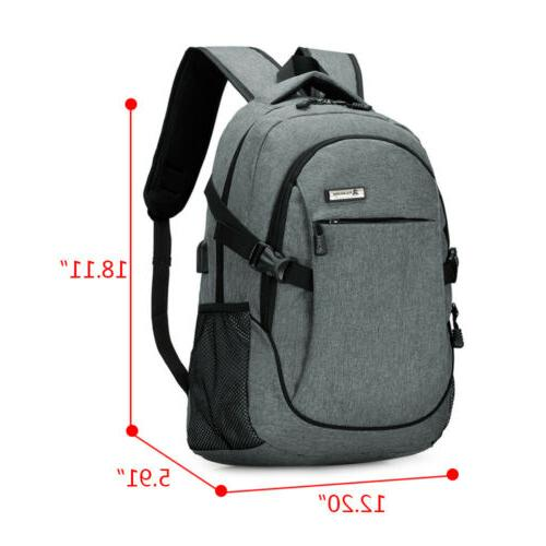 Mens Anti-Theft Travel Notebook Bag