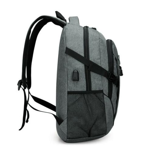 Mens Anti-Theft Charging Travel Notebook Bag