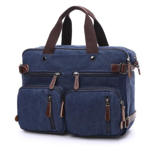 "Mens Briefcase 15"" Laptop Backpack Large Crossbody Messenger"
