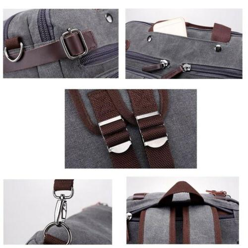 Mens Canvas Laptop Large Crossbody Messenger Bag