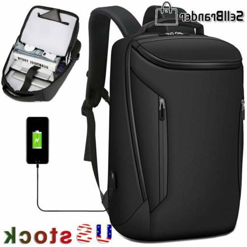 mens business waterproof laptop travel backpack school