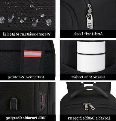 """17"""" Large Anti Waterproof USB RFID School Bag"""