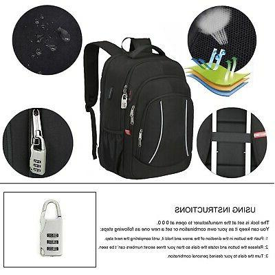 Mens Backpack Large Anti RFID