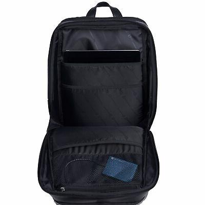 Alpine Mens Leather Laptop Backpack Computer