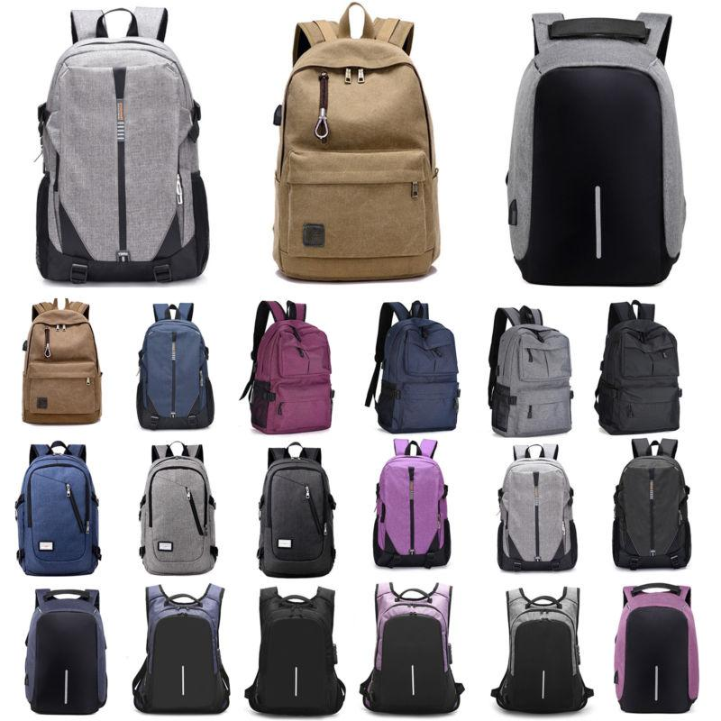 Mens Women Backpack Rucksack Travel Laptop School Bags With