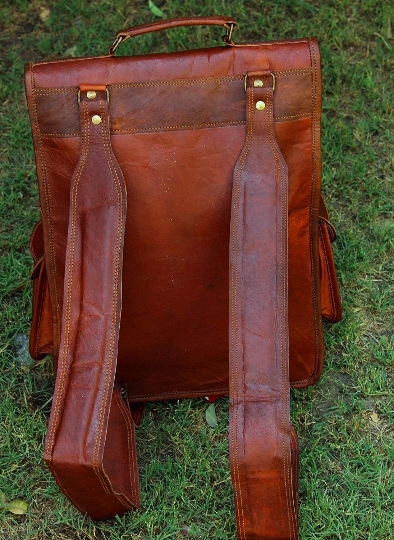 Mens Vintage Genuine Laptop Messenger Bag