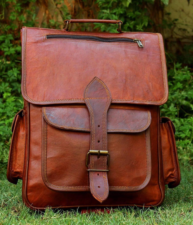 Mens Leather Laptop Bag Satchel