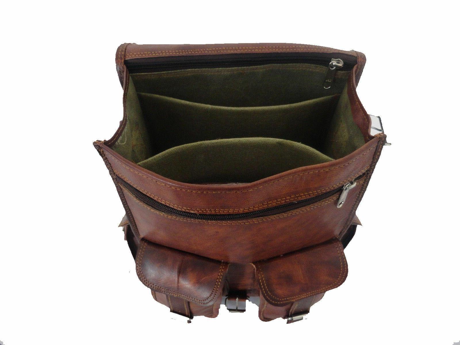 Men Leather Shoulder Rucksack