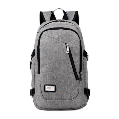 Mens Travel Backpack Port Laptop Notebook