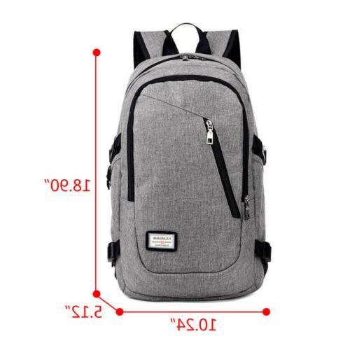 Anti-theft Rucksack USB Port Backpack Travel