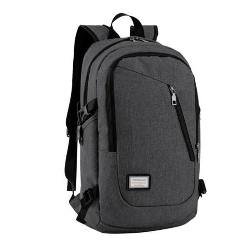 Mens Anti-Theft Backpack Notebook School