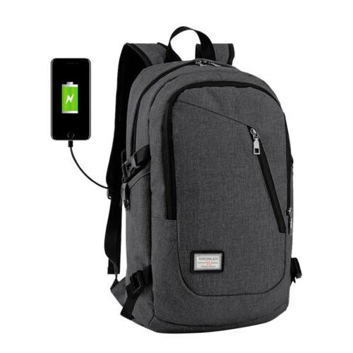 Mens Womens Anti-Theft Backpack Notebook School