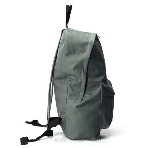 Mens Womens Canvas Backpack Casual Travel Hiking Bag