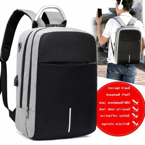 Mens Lock USB Backpack School