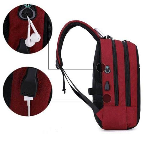 Mens Lock Charging Backpack Travel