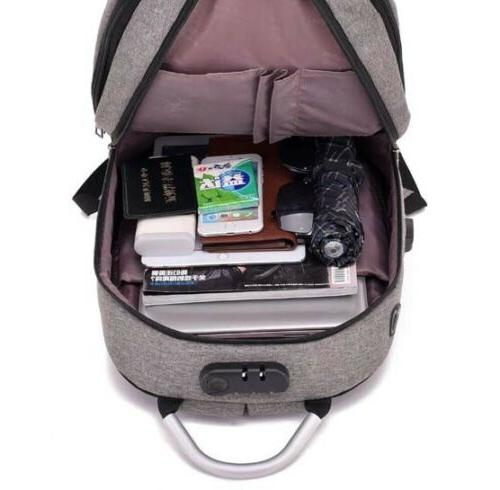 Lock USB Charging Backpack Travel School