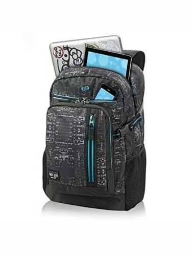 """Solo Midnight 15.6"""" Laptop Backpack, Black"""