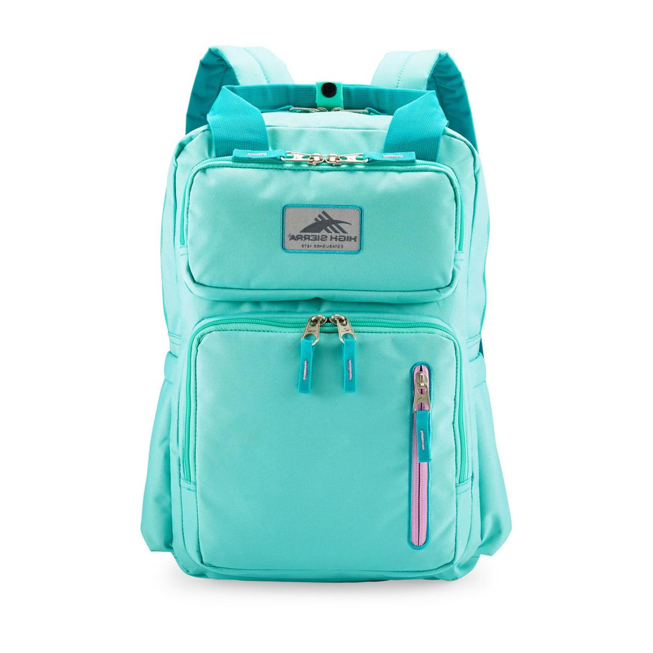 High Sierra Mindie Backpack NWT Aquamarine Lilac Laptop New