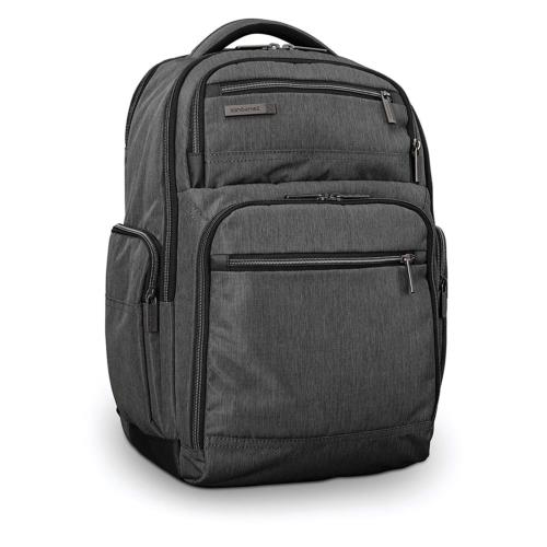 modern utility double shot backpack laptop charcoal