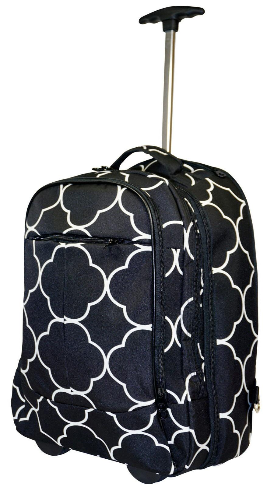 moroccan wheeled laptop backpack