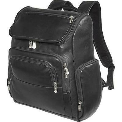 multi pocket laptop backpack black