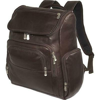 multi pocket laptop backpack chocolate
