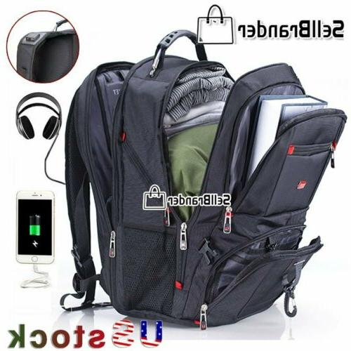 multifunctional 17 laptop backpack hiking travel camping