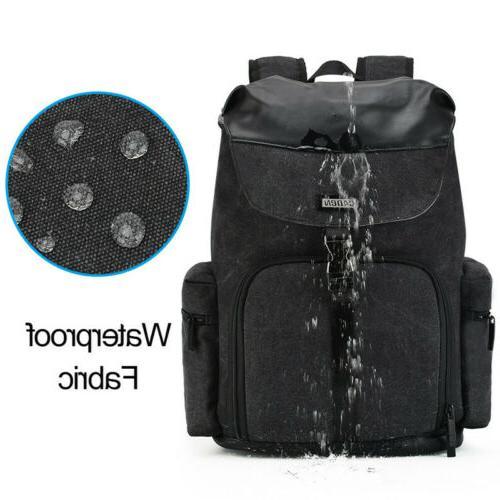 New Black Bag Backpack Canon Nikon SLR