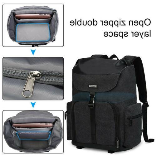 New Black Canvas Bag For Nikon SLR
