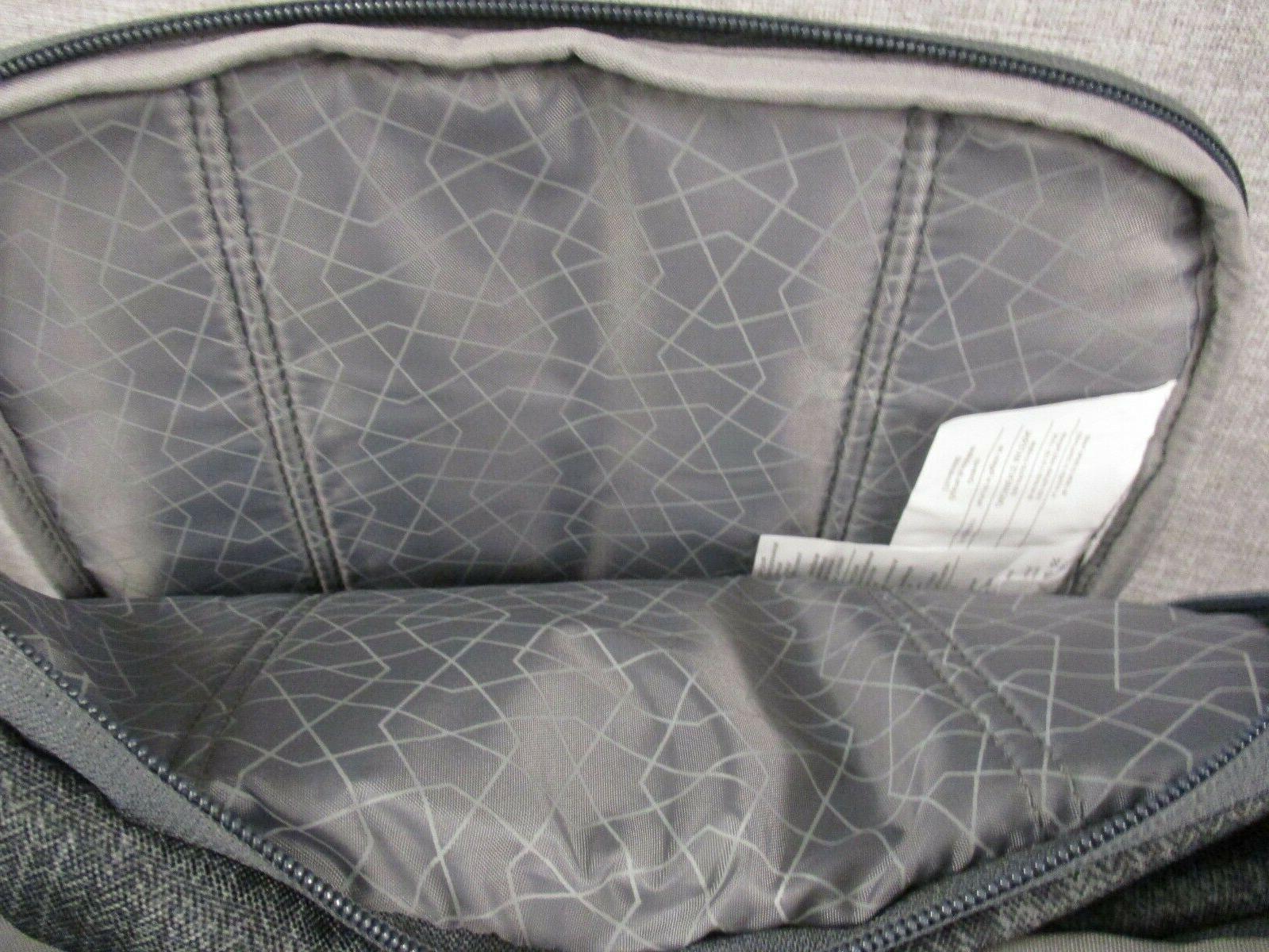 New High Grab Handle Padded Book Bag - Gray