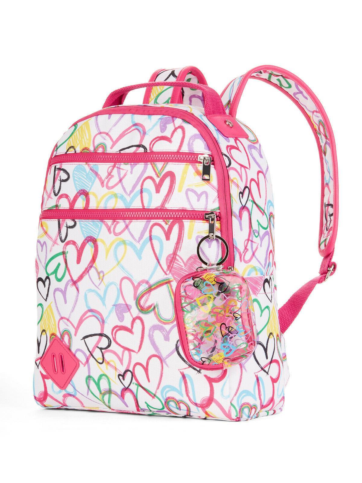 new hearts school laptop backpack knapsack bookbag