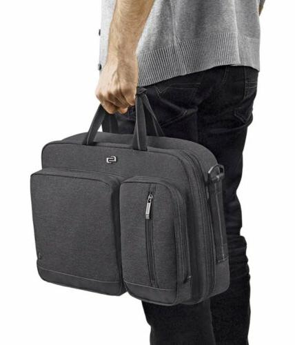 New SOLO Hybrid Laptop Bag Gray