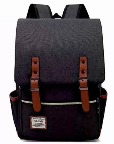 new kenox backpacks vintage style black laptop
