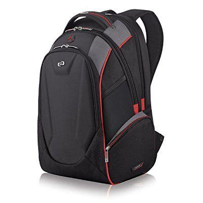 NEW Solo Launch Inch Laptop Backpack Hardshell Front Pocket, Black