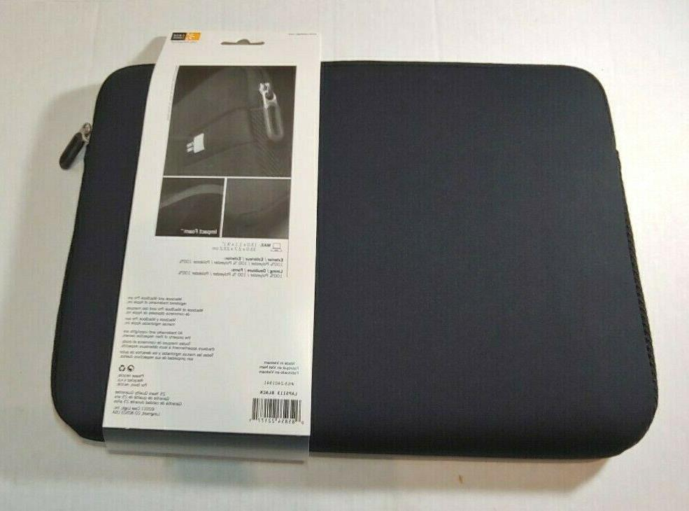 """New Laptop Sleeve up to 13.3"""", Black"""
